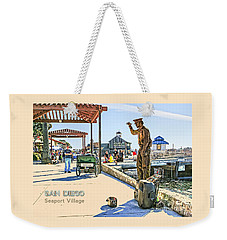 San Diego - Seaport Village Scene Weekender Tote Bag