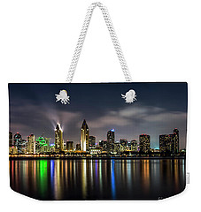San Diego Skyline At Night Weekender Tote Bag