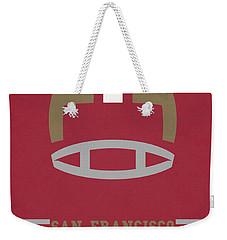 San Francisco 49ers Vintage Art Weekender Tote Bag by Joe Hamilton