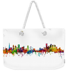 San Francisco And Pittsburgh Skylines Mashup Weekender Tote Bag