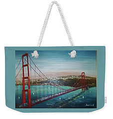 San Francisco And The Golden Gate Bridge Weekender Tote Bag