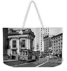 San Francisco Cable Car During Wwii Weekender Tote Bag