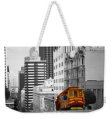 Red Cable Car - San Francisco Highlight Weekender Tote Bag by Art America Gallery Peter Potter
