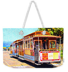 San Francisco Cablecar At Fishermans Wharf . 7d14097 Weekender Tote Bag