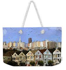 Painted Ladies Weekender Tote Bag by Carrie Joy Byrnes