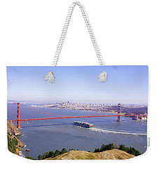 Weekender Tote Bag featuring the photograph San Francisco - City By The Bay by Art Block Collections