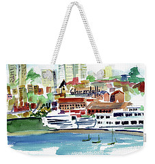 San Francisco Cityfront From Aquatic Park Weekender Tote Bag by Tom Simmons