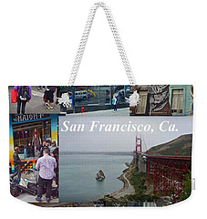 Weekender Tote Bag featuring the photograph San Francisco Poster by Joan Reese