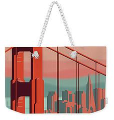 San Francisco Retro Travel Poster Weekender Tote Bag