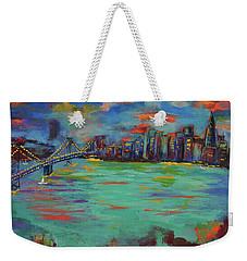 San Francisco Skyline In Sunset Weekender Tote Bag