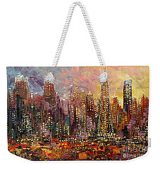 Weekender Tote Bag featuring the painting San Francisco by Tatiana Iliina