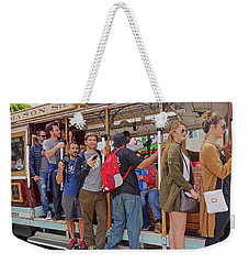 Weekender Tote Bag featuring the photograph San Francisco Trolley by Joan Reese