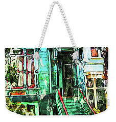 Weekender Tote Bag featuring the photograph San Francisco Victorian by Joan Reese