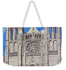 San Francisco's Grace Cathedral Weekender Tote Bag by Mike Robles