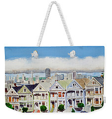 San Francisco's Painted Ladies Weekender Tote Bag by Mike Robles