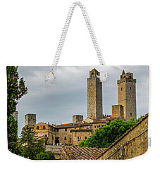 Weekender Tote Bag featuring the photograph San Gimignano by Jean Haynes