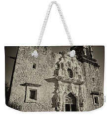 Weekender Tote Bag featuring the photograph San Jose Mission - San Antonio by Stephen Stookey