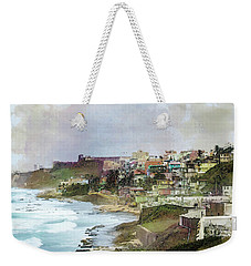 Weekender Tote Bag featuring the photograph San Juan By The Ocean by John Rivera