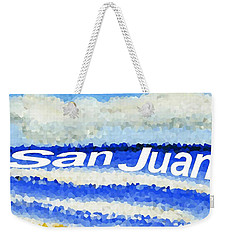 Weekender Tote Bag featuring the painting San Juan  by Dick Sauer