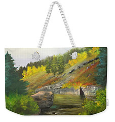 San Juan River Weekender Tote Bag by Barbara Haviland