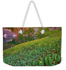 Weekender Tote Bag featuring the photograph San Juan Sunrise by Darren White