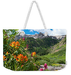 Weekender Tote Bag featuring the photograph San Juans Indian Paintbrush Landscape by Cascade Colors