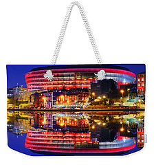 San Mames Stadium At Night With Water Reflections Weekender Tote Bag