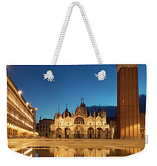 Weekender Tote Bag featuring the photograph San Marco Twilight by Brian Jannsen