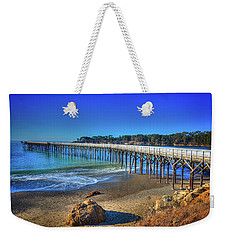 San Simeon Pier California Coast Weekender Tote Bag by James Hammond