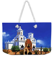 San Xavier Del Bac Mission Weekender Tote Bag by M Diane Bonaparte