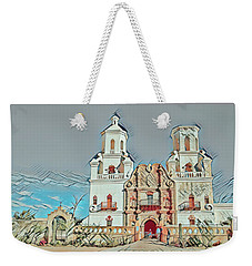 Weekender Tote Bag featuring the photograph San Xavier Del Bac Remix One by Dan McManus