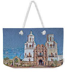 Weekender Tote Bag featuring the photograph San Xavier Del Bac Remix Two by Dan McManus