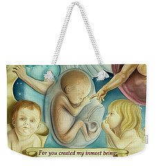 Sanctity Of Life Weekender Tote Bag