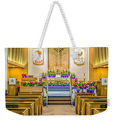 Weekender Tote Bag featuring the photograph Sanctuary At Easter by Nick Zelinsky