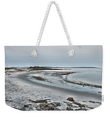 Weekender Tote Bag featuring the photograph Sand Along The Shoreline by Richard Bean