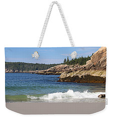 Weekender Tote Bag featuring the photograph Sand Beach Acadia by Living Color Photography Lorraine Lynch