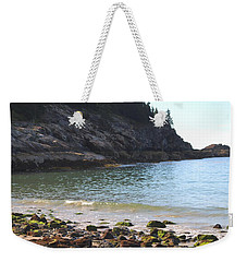 Weekender Tote Bag featuring the photograph Sand Beach At Acadia by Living Color Photography Lorraine Lynch