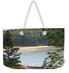Weekender Tote Bag featuring the photograph Sand Beach From A Distance by Living Color Photography Lorraine Lynch