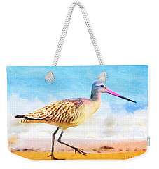 Weekender Tote Bag featuring the painting Sand Between My Toes ... by Chris Armytage