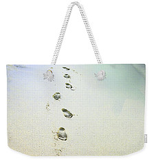 Weekender Tote Bag featuring the photograph Sand Between My Toes by Betty LaRue