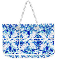 Weekender Tote Bag featuring the digital art Sand Dollar Delight Pattern 6 by Monique Faella