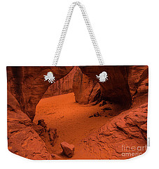 Weekender Tote Bag featuring the photograph Sand Dune Arch - Arches National Park - Utah by Gary Whitton