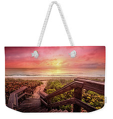Weekender Tote Bag featuring the photograph Sand Dune Morning by Debra and Dave Vanderlaan