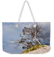 Sand Dune With Bent Trees Weekender Tote Bag