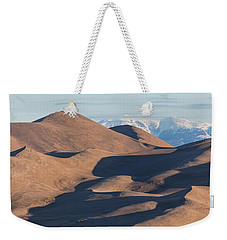 Sand Dunes And Rocky Mountains Panorama Weekender Tote Bag by James BO Insogna