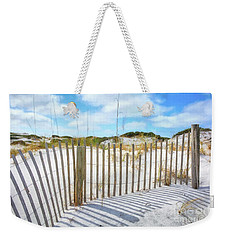Weekender Tote Bag featuring the photograph Sand Dunes At Grayton Beach # 2 by Mel Steinhauer