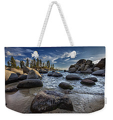 Sand Harbor II Weekender Tote Bag by Rick Berk