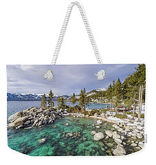 Sand Harbor Views Weekender Tote Bag by Alpha Wanderlust