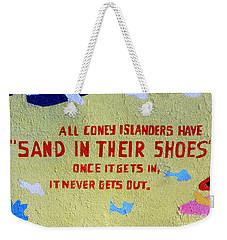 Sand In Their Shoes Weekender Tote Bag