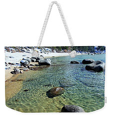 Sand Language In Winter Weekender Tote Bag by Sean Sarsfield